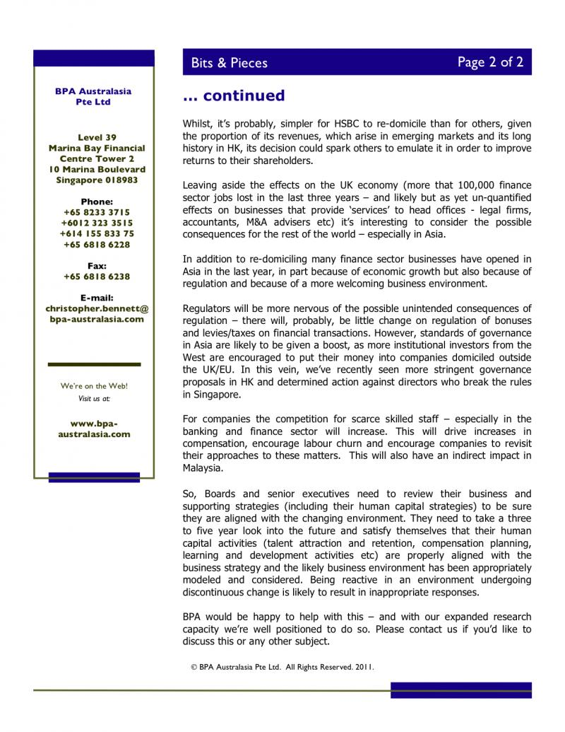 BPA - Newsletter - March 2011 - 2