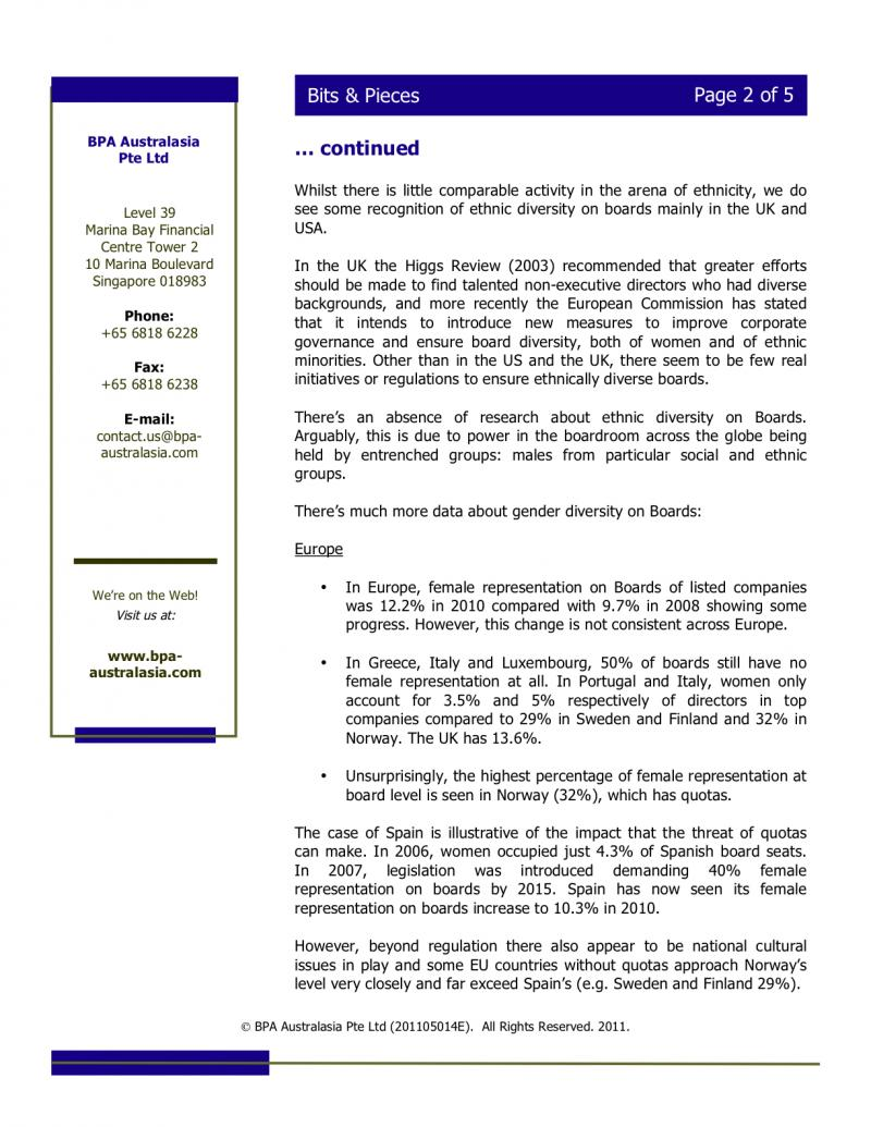 BPA - Newsletter - May 2011